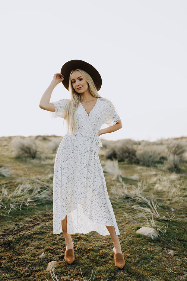 RESTOCK - Presley Polka Dot Maxi Dress