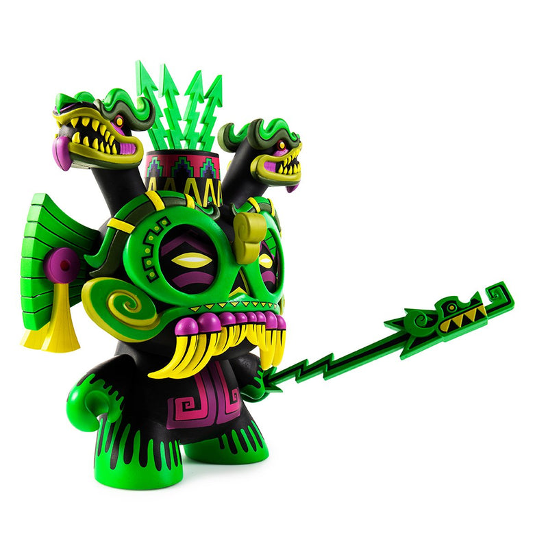 "TLALOC 8"" GREEN DUNNY ART FIGURE BY JESSE HERNANDEZ"