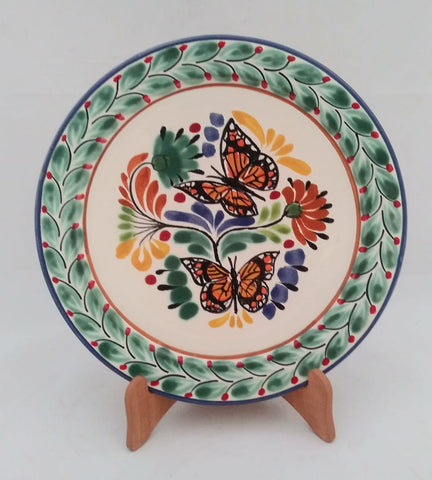 mexican plates folk art butterfly motives