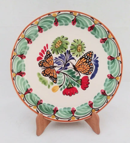 mexican plates hand painted mexico hand thrown folk art