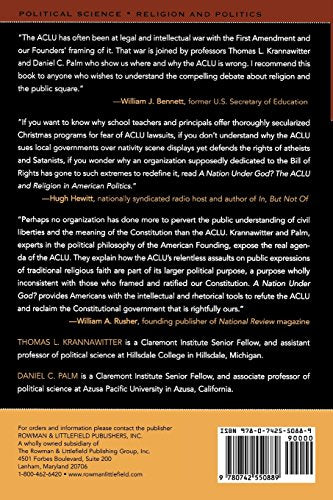 A Nation Under God?: The ACLU and Religion in American Politics (Claremont Institute Series on Statesmanship and Political Philosophy)
