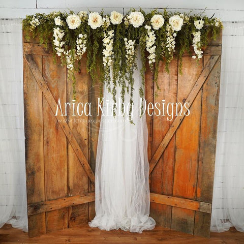 Kate Enchanted Cottage Spring Floral Doors Backdrop designed by Arica Kirby