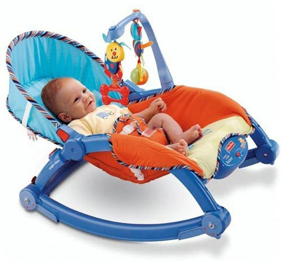 Webby Newborn to Toddler Portable Rocker, Multi Color N.B-4 Years