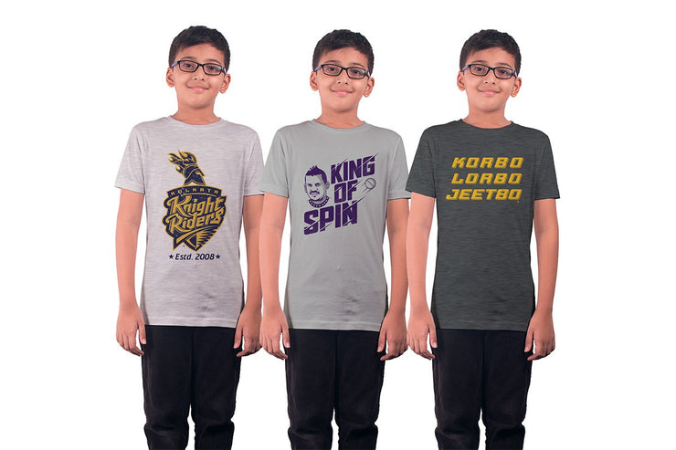 Pack Of Three: Kolkata Knight Riders (Kids)