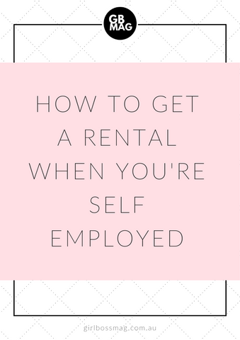 how to get a rental when self-employed