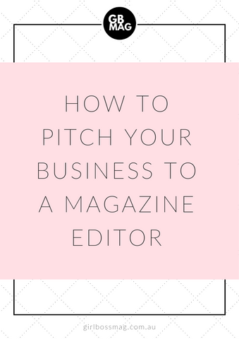 how to pitch to a magazine editor