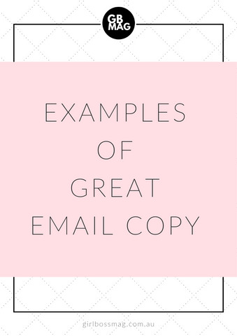 examples of great email copy