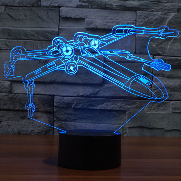 Lampe 3D LED X-Wing Fighter