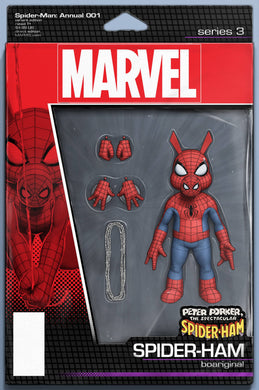 SPIDER-MAN ANNUAL #1 CHRISTOPHER ACTION FIGURE VARIANT 06/26/19 FOC 06/03/19