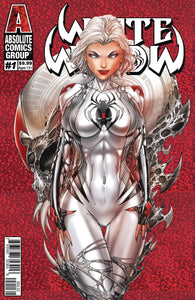WHITE WIDOW #1 2ND PTG CVR C FOIL COVER SIGNED BY BENNY POWELL & JAMIE TYNDALL