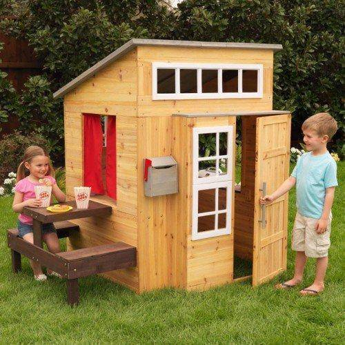 Bounce and Swing:Kidkraft Modern Outdoor Playhouse