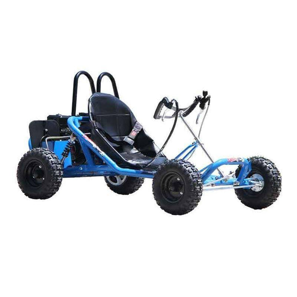 GMX 200cc Drift Go Kart Electric Start - Blue Kids Ride On