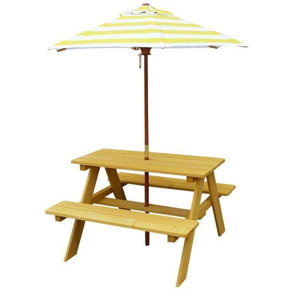 Lifespan Sunset Picnic Table with Umbrella Outdoor Furniture- Bounce and Swing