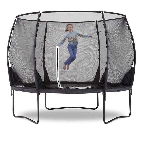 PLUM 10ft Premium Magnitude Spring Safe® Trampoline Trampolines- Bounce and Swing