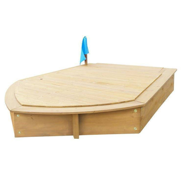 Lifespan Boat Sandpit Set with Cover Outdoor Play- Bounce and Swing