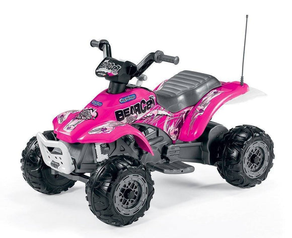 Peg Perego CORRAL BEARCAT PINK Electric Quad 6v Ride On- Bounce and Swing