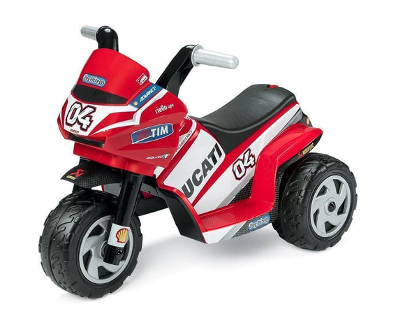 Peg Perego Ducati Mini Electric Motobike 6v Ride On- Bounce and Swing