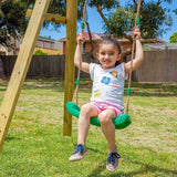 Lifespan Holt 2 Double Wooden Swingset Sliders&Swings- Bounce and Swing