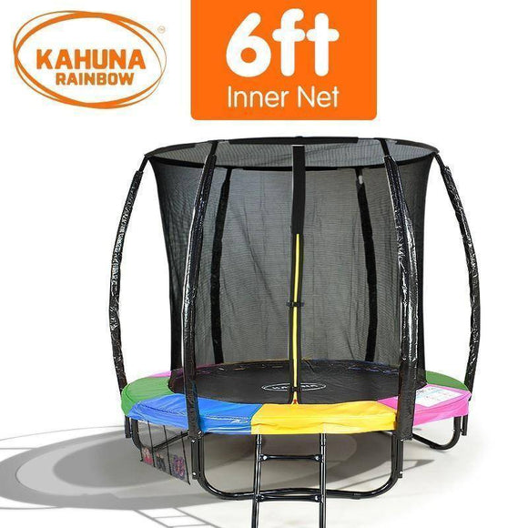 KAHUNA Trampoline 6FT Rainbow Trampolines- Bounce and Swing
