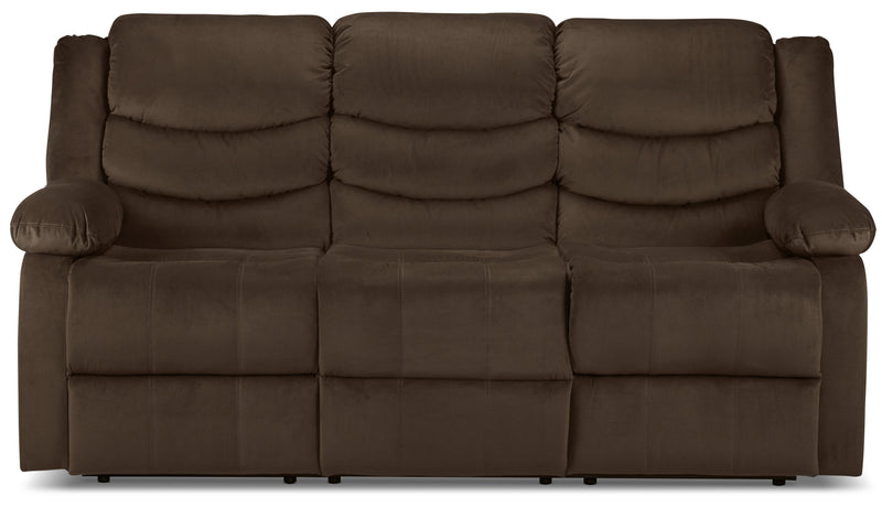 Logan Power Reclining Sofa - Chocolate Brown