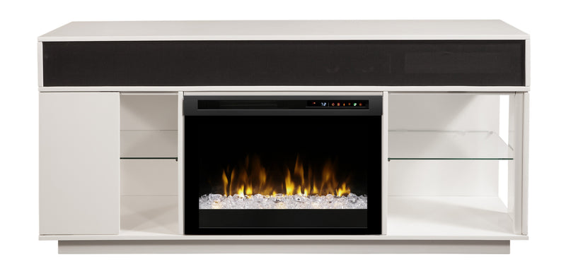 Gavin Media Console Electric Fireplace - White