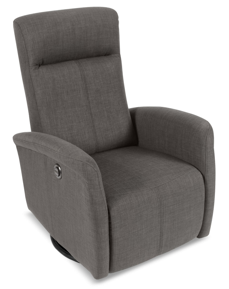 Kelsey Swivel Power Glider Recliner - Charcoal