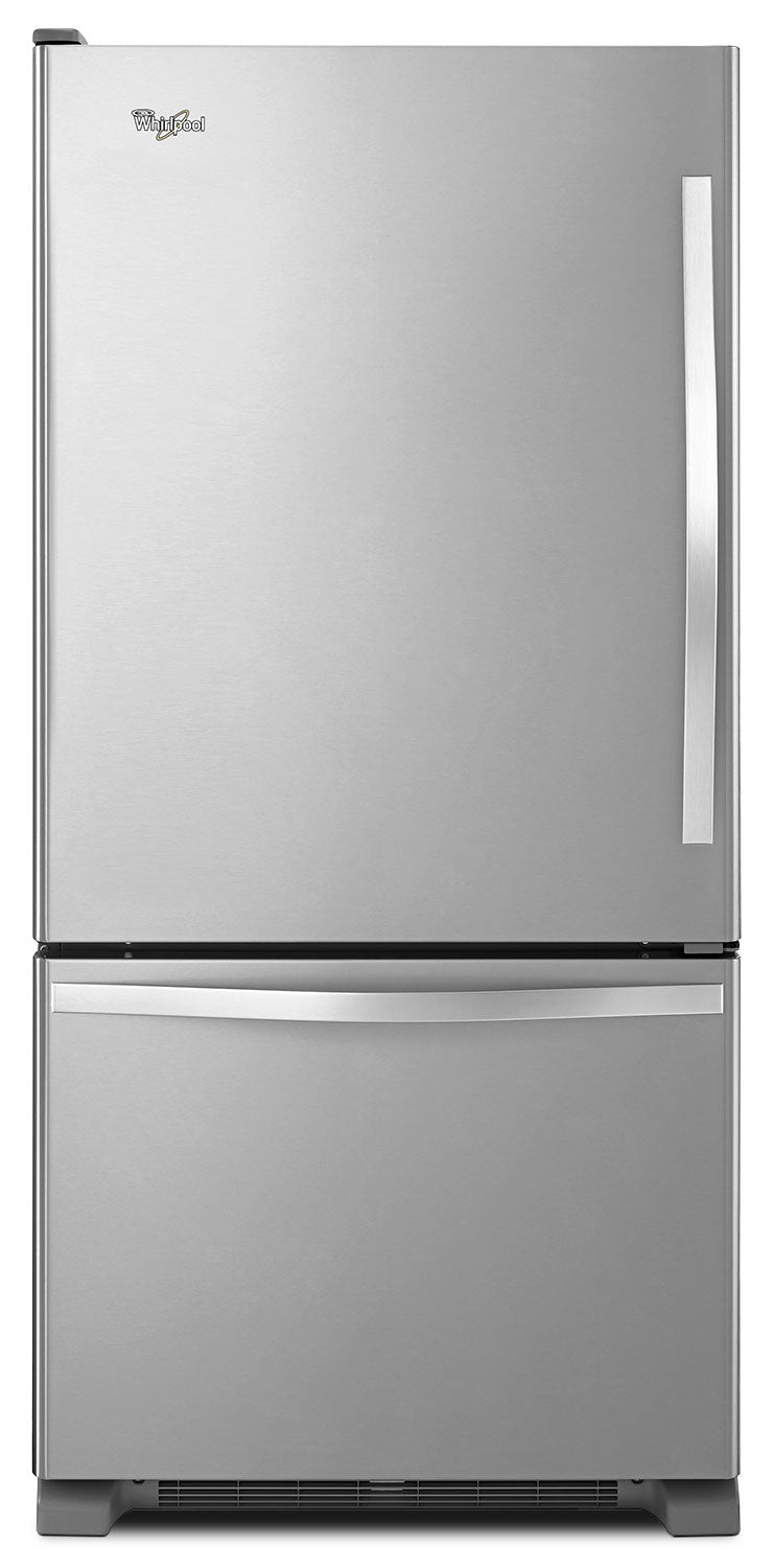 Whirlpool Stainless Steel Bottom-Freezer Refrigerator (19 Cu. Ft.) - WRB329LFBM