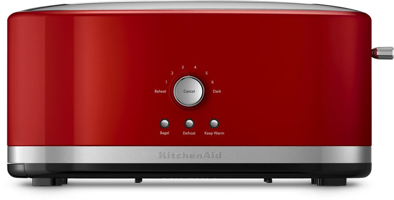 KitchenAid Empire Red 4-Slice Long Slot Toaster with High-Lift Lever - KMT4116ER