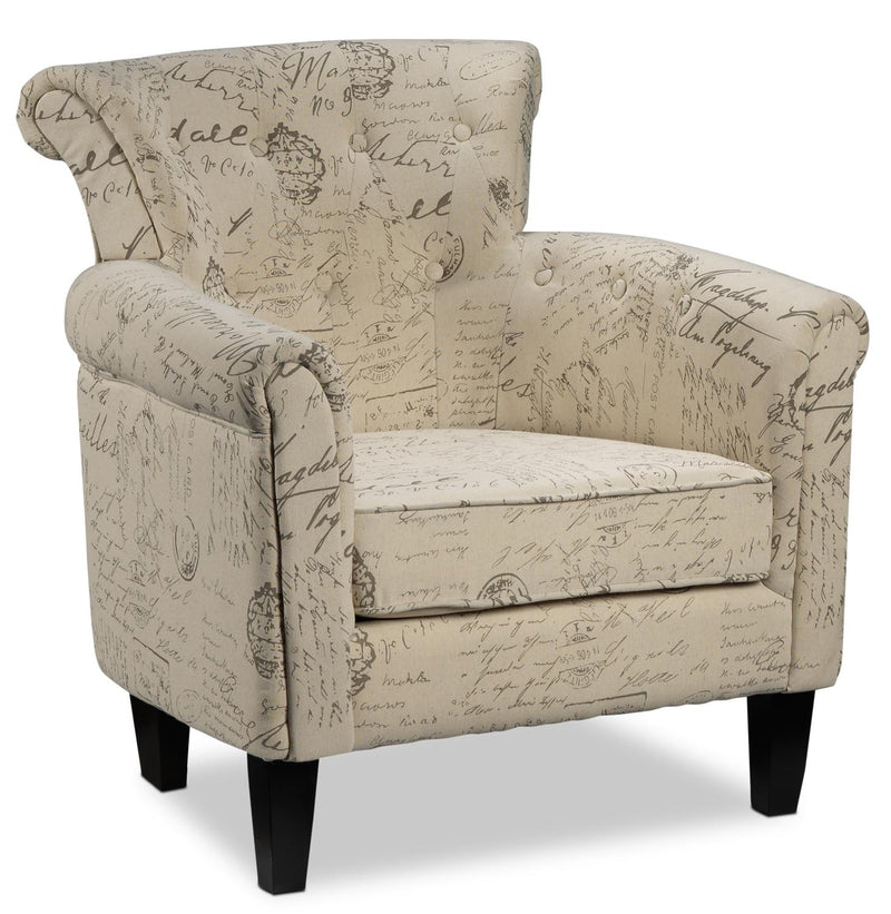 Yanny Accent Chair - Scroll White
