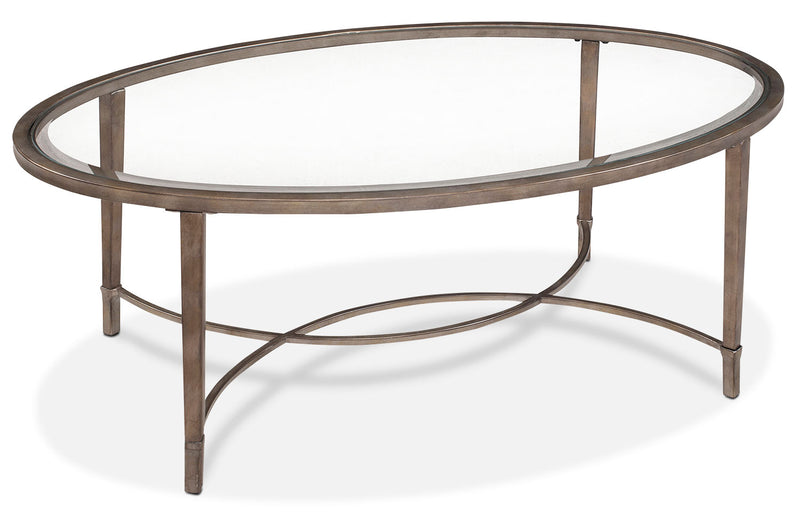 Copia Coffee Table - Glass and Gold