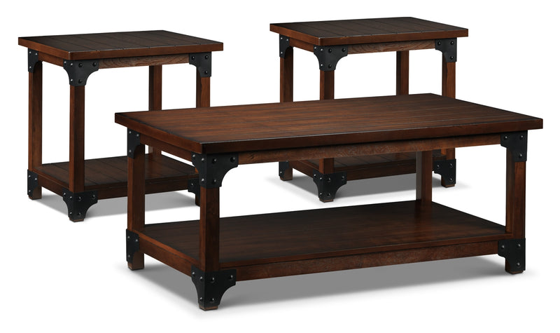 Wellington Coffee Table and Two End Tables  - Walnut