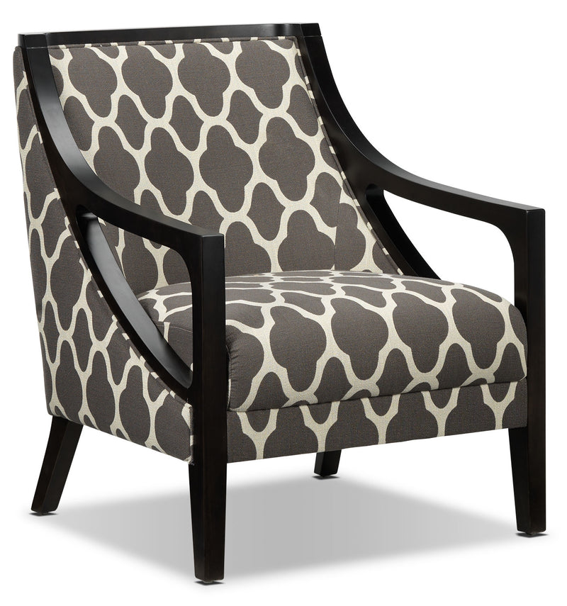 Samara Accent Chair - Brown and Beige