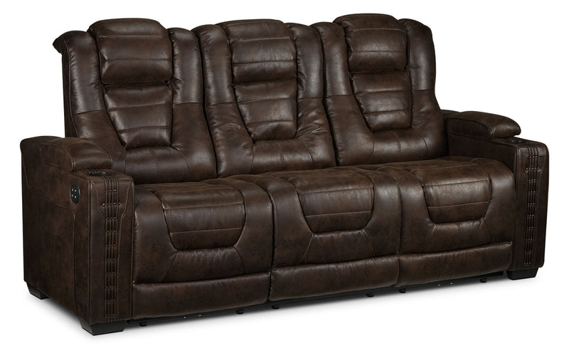Dakota Power Reclining Sofa - Walnut