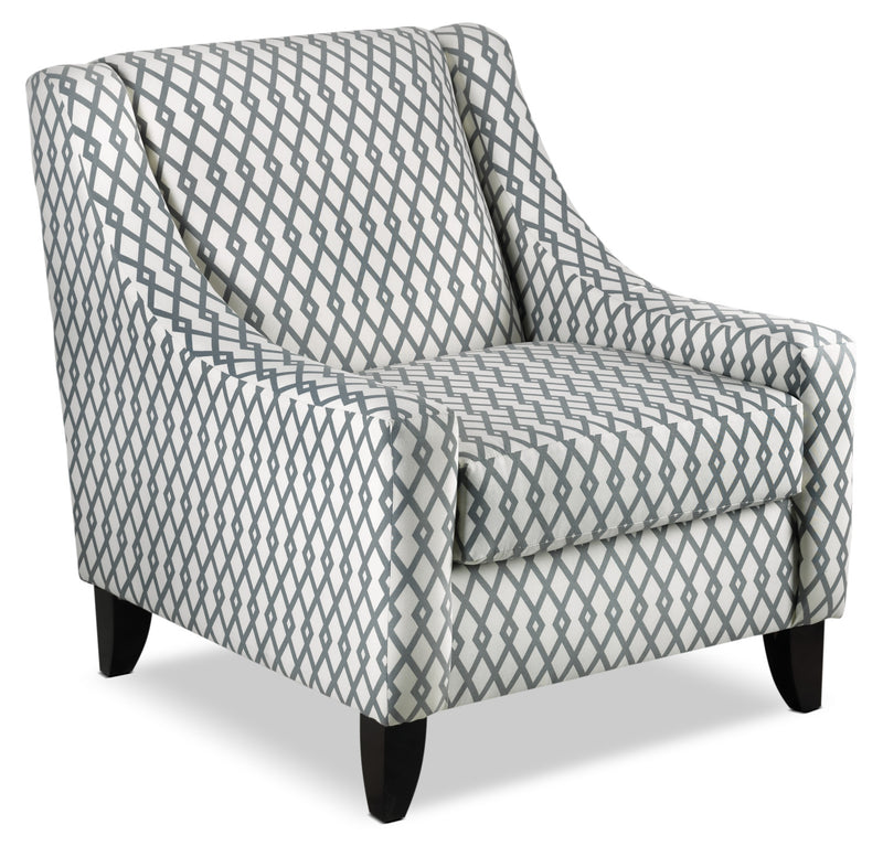 Halley Accent Chair - Lattice Slate