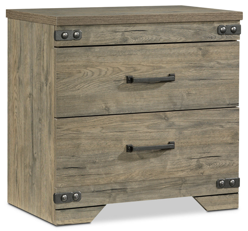 Gramado Night Table - Weathered Oak