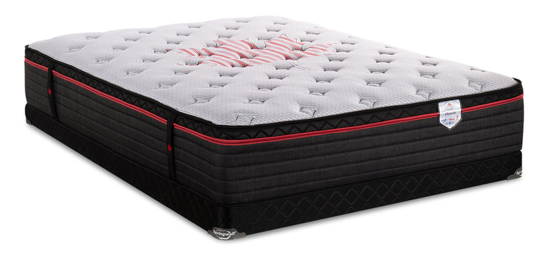 Springwall True North Chiropractic Chinook Eurotop Low-Profile Full Mattress Set|Ensemble à Euro-plateau à profil bas True North Chinook ChiropracticMD de Springwall pour lit double