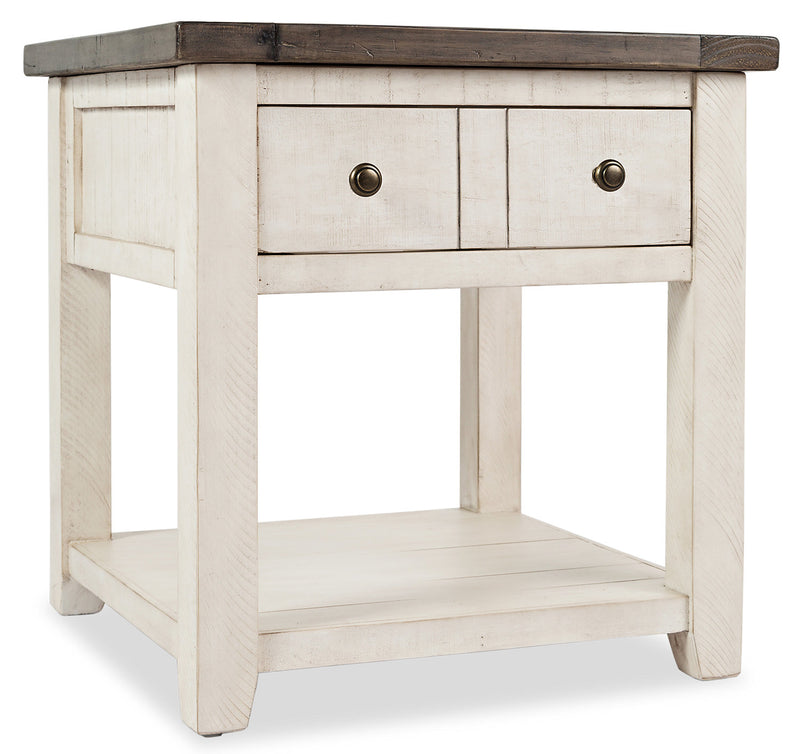 Madison End Table – White