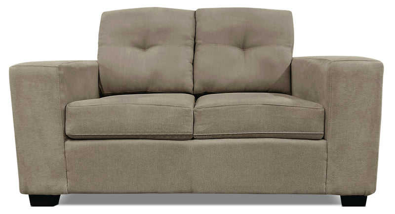 Mara Chenille Loveseat – Light Brown|Causeuse Mara en chenille - brune pâle