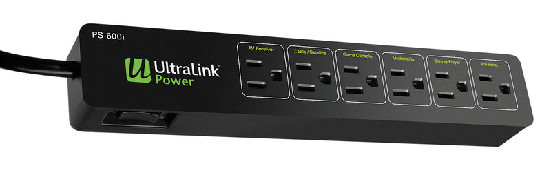UltraLink Power PS-600I 6-Outlet Power Bar with 600 J Surge Protection|Multiprise Power PS-600I UltraLinkMD à 6 prise avec protection contre les surtensions