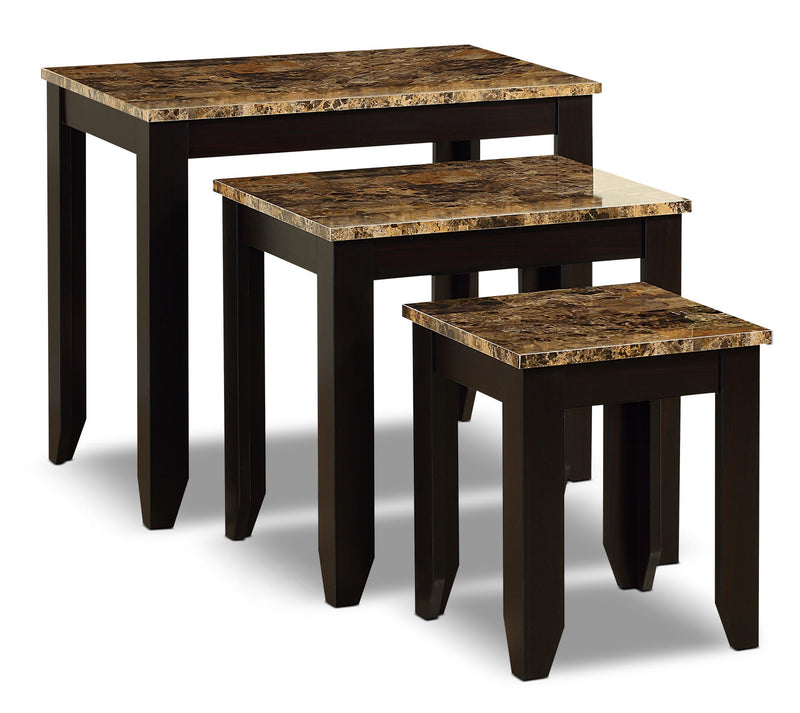 Roma 3-Piece Nesting Table Package|Ensemble de tables gigognes Roma 3 pièces