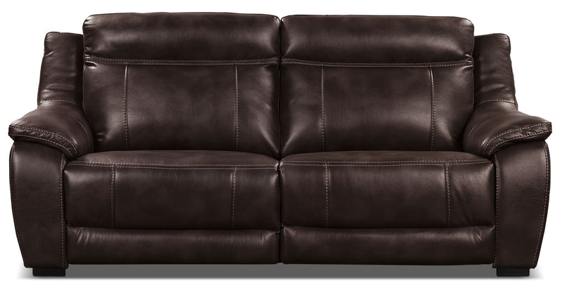 Novo Leather-Look Fabric Sofa – Brown|Sofa Novo en tissu d'apparence cuir - brun