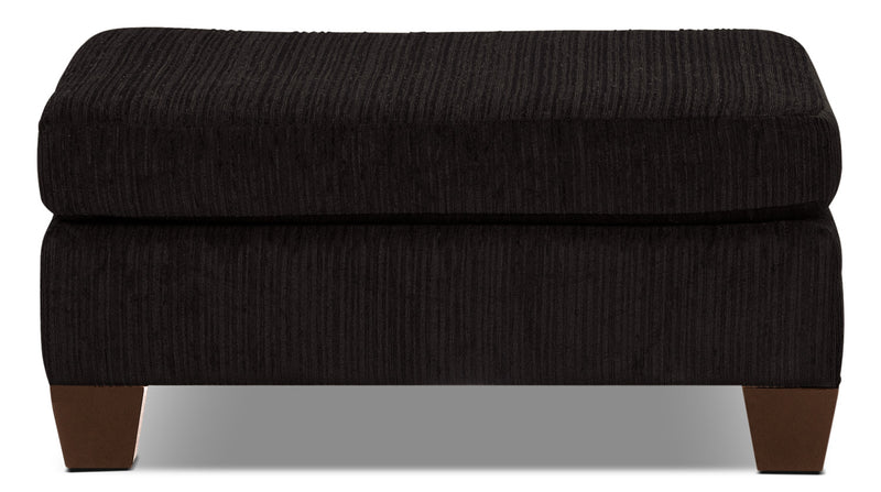 Putty Chenille Ottoman - Chocolate|Pouf Putty en chenille - chocolat