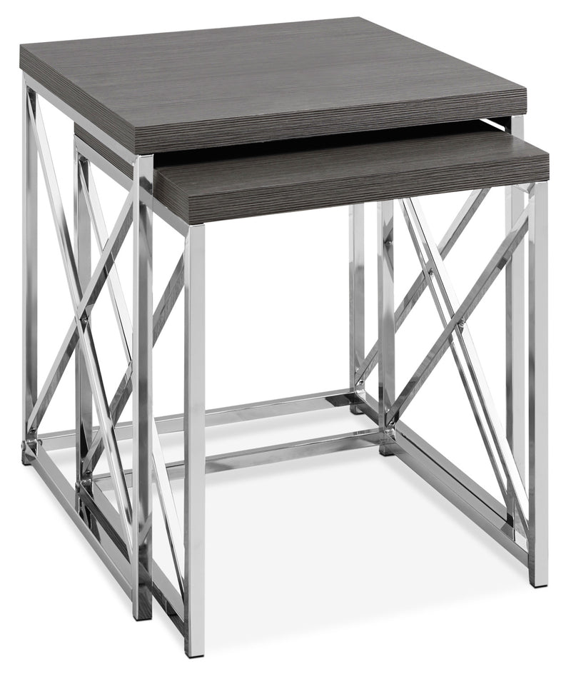 Jersey 2-Piece End Table|Tables gigognes Jersey
