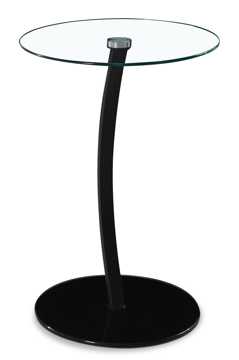 Dawson Single-Leg Accent Table – Black|Table d'appoint Dawson à une patte - noire