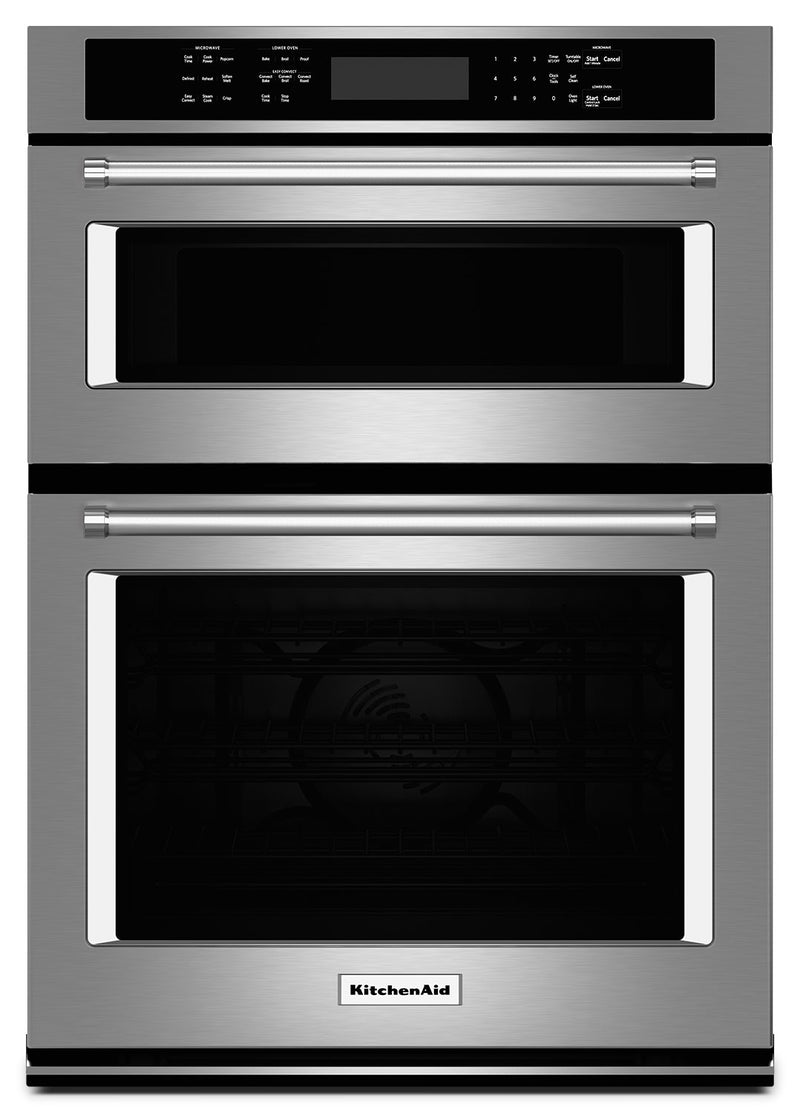 "KitchenAid 27"" Combination Wall Oven with Even-Heat™ True Convection - Stainless Steel