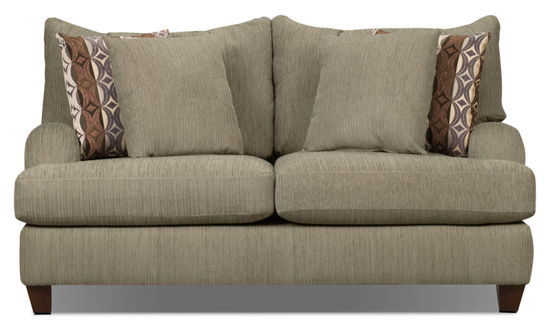Putty Chenille Loveseat - Beige|Causeuse Putty en chenille - beige