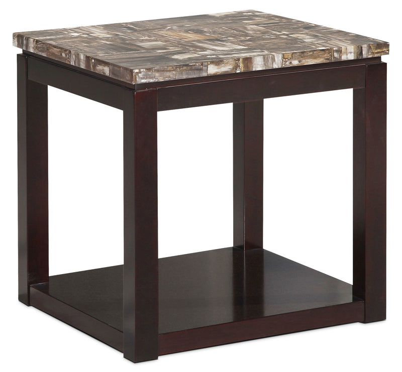 Sicily End Table – Brown|Table de bout Sicily – brun