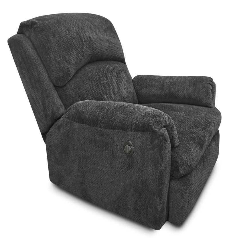 Baron Chenille Power Reclining Chair – Grey|Fauteuil à inclinaison électrique Baron en chenille – gris