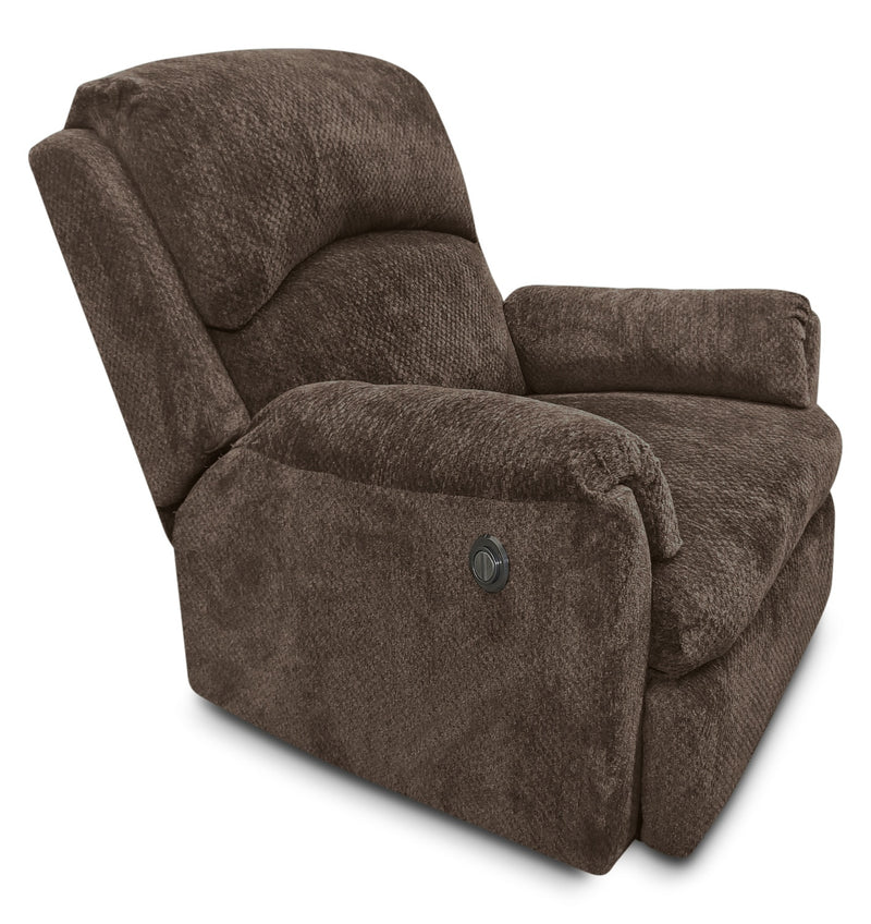 Baron Chenille Power Reclining Chair – Brown|Fauteuil à inclinaison électrique Baron en chenille – brun