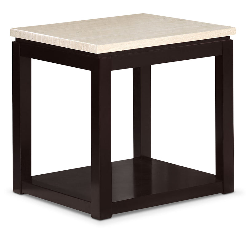 Sicily End Table – Beige|Table de bout Sicily - noire